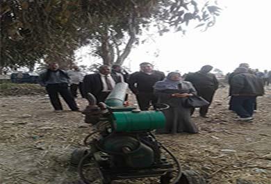 حملة لإزالة التعديات على الأراضى الزراعية بمركز ومدينة الواسطى