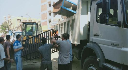 رفع وإزالة  312حالة إشغال متنوعة في حملة بشوارع وميادين مدينة  ببا