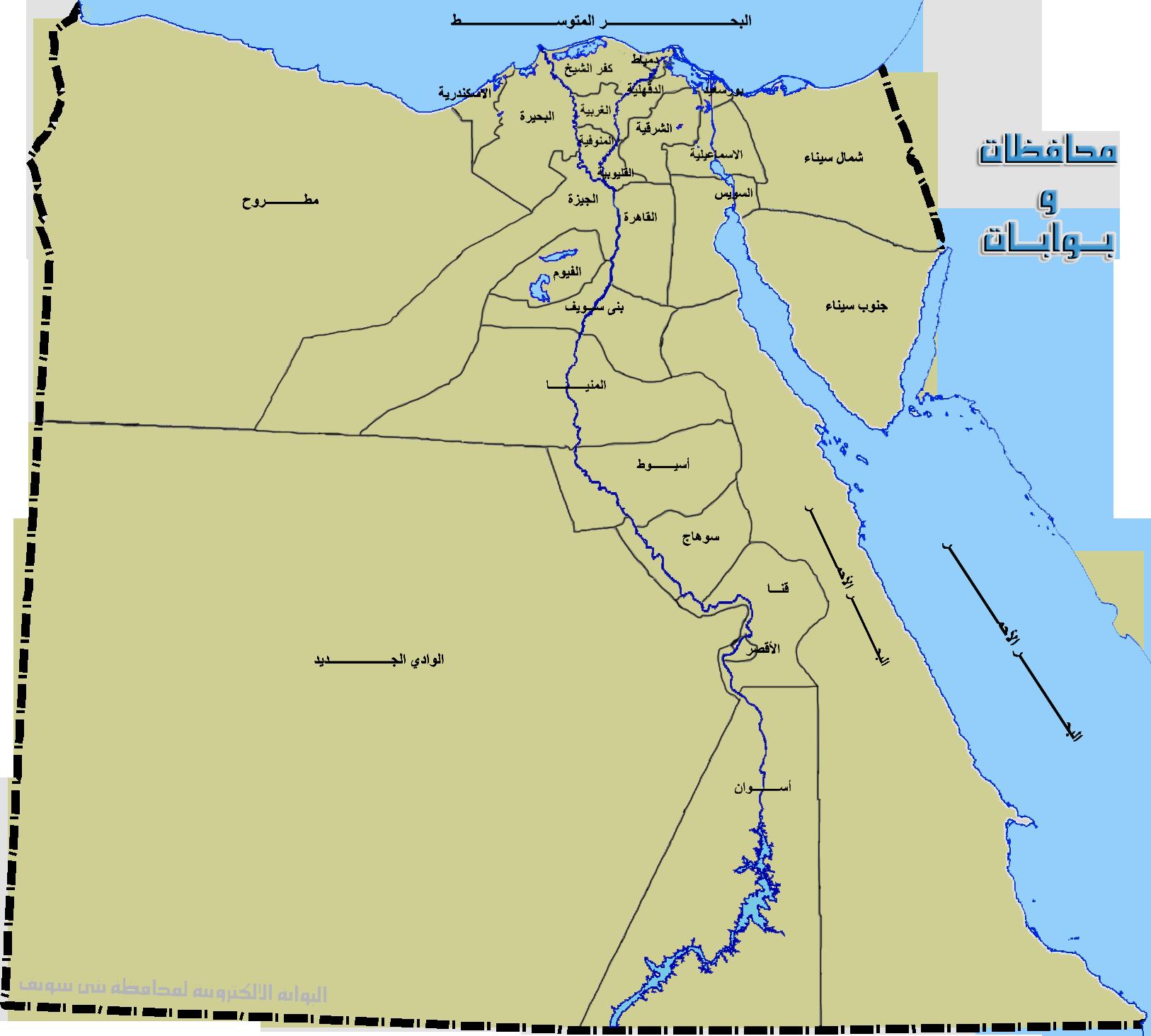 خريطة مصر شبكة و منتديات العرب المسافرون