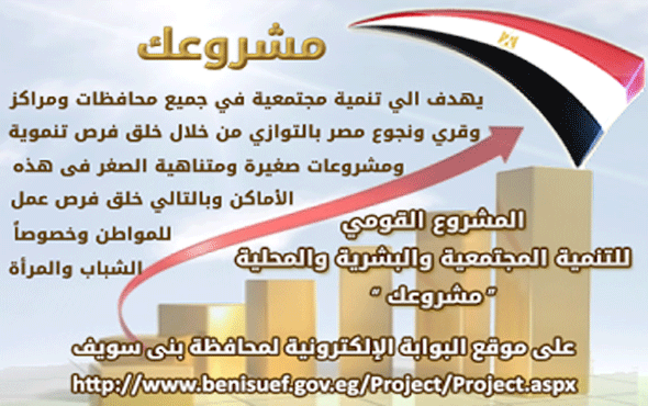 أسماء وأرقام مسئولى مشروعك وموقف تجهيز مقارات مشروعك بمراكز محافظة بنى سويف